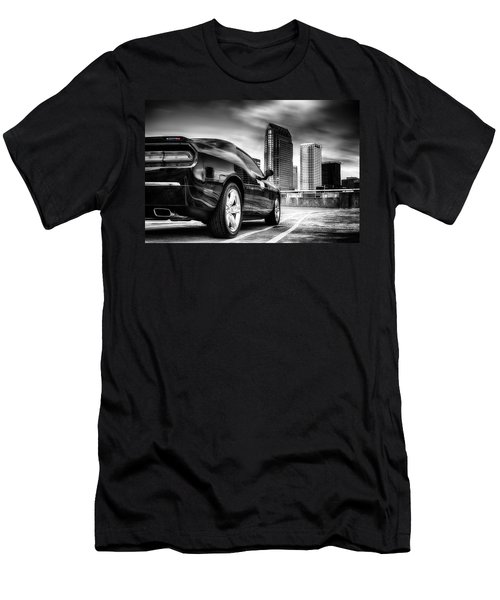 Dodge Challenger Tampa Skyline  Men's T-Shirt (Athletic Fit)