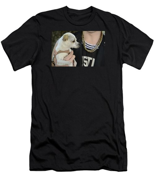 Dog And True Friendship 1 Men's T-Shirt (Athletic Fit)