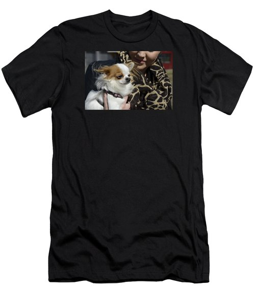 Dog And True Friendship 2 Men's T-Shirt (Slim Fit) by Teo SITCHET-KANDA