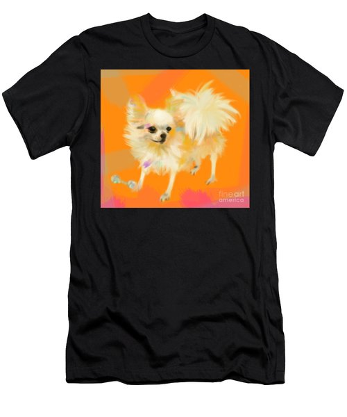 Dog Chihuahua Orange Men's T-Shirt (Athletic Fit)