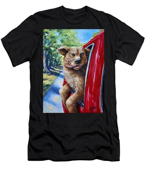 Dog...gone Happy Men's T-Shirt (Athletic Fit)