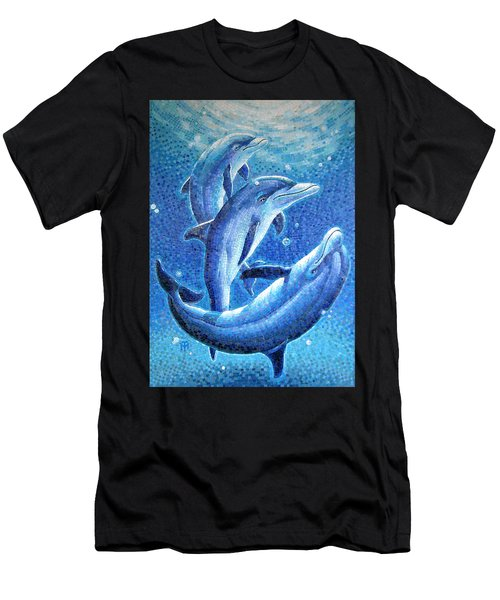 Dolphin Trio Men's T-Shirt (Athletic Fit)