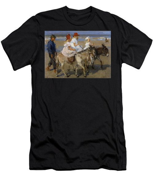 Donkey Rides Along The Beach Men's T-Shirt (Athletic Fit)