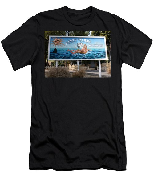 Don't Go In The Water Men's T-Shirt (Slim Fit) by David Nicholls