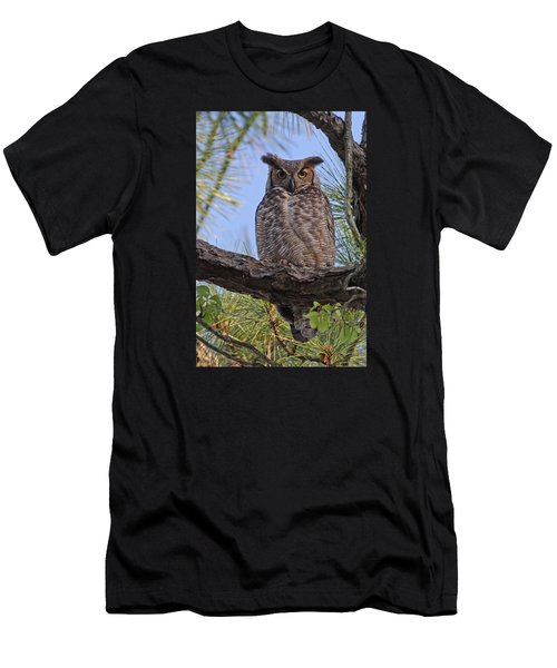 Men's T-Shirt (Slim Fit) featuring the photograph Don't Mess With My Chicks #2 by Paul Rebmann