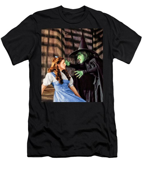 Dorothy And The Wicked Witch Men's T-Shirt (Athletic Fit)