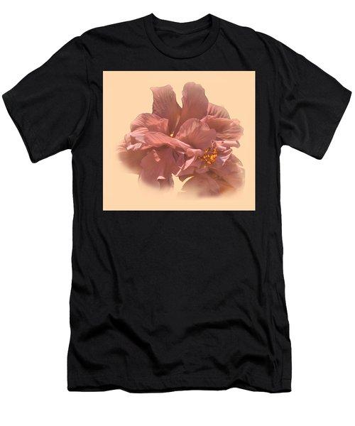 Double Hibiscus Portrait Men's T-Shirt (Athletic Fit)