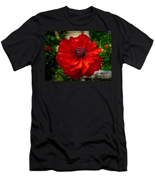 Double Poppy Men's T-Shirt (Athletic Fit)
