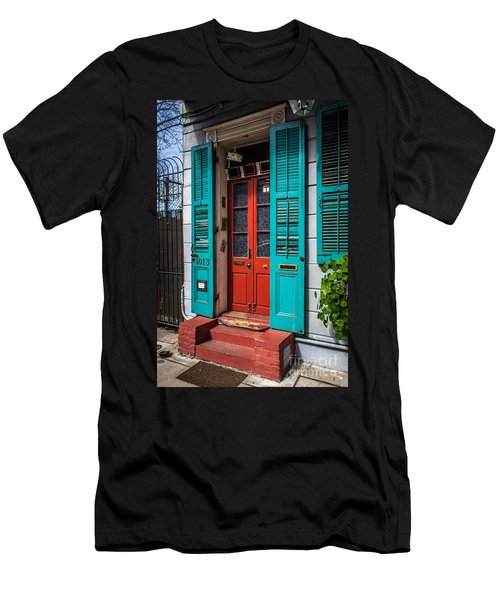 Double Red Door Men's T-Shirt (Athletic Fit)