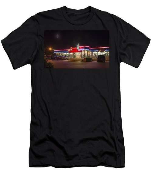 Double T Diner At Night Men's T-Shirt (Athletic Fit)