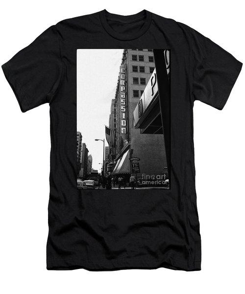 Men's T-Shirt (Slim Fit) featuring the photograph Downtown La - Mid '70's by Doc Braham