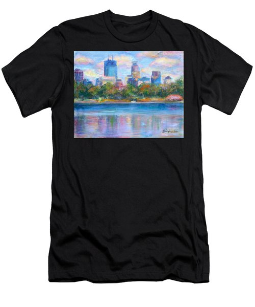 Downtown Minneapolis Skyline From Lake Calhoun Men's T-Shirt (Athletic Fit)