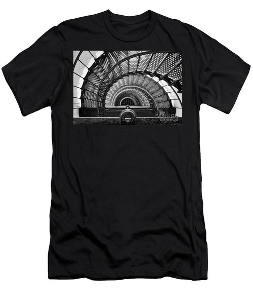 Downward Spiral Bw Men's T-Shirt (Athletic Fit)