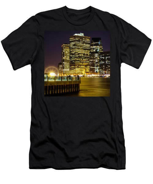 Downtown Lights Men's T-Shirt (Athletic Fit)