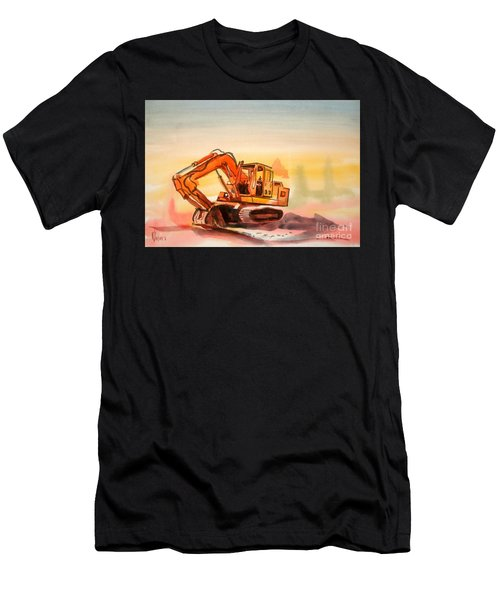 Dozer In Watercolor  Men's T-Shirt (Athletic Fit)