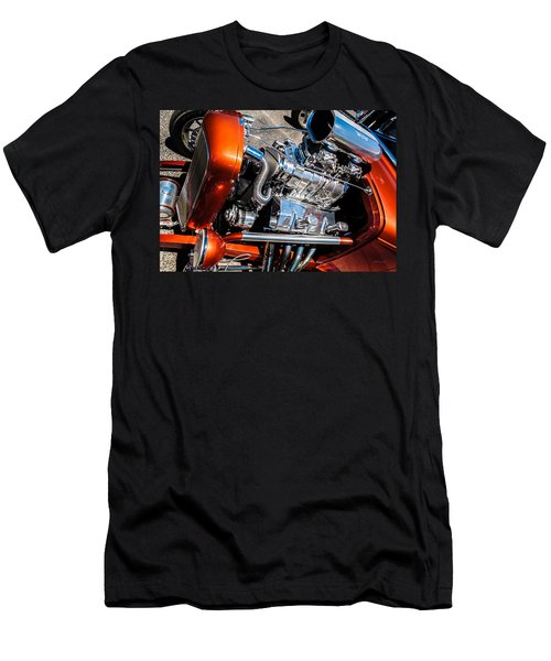 Men's T-Shirt (Slim Fit) featuring the photograph Drag Queen - Hot Rod Blown Chrome  by Steven Milner