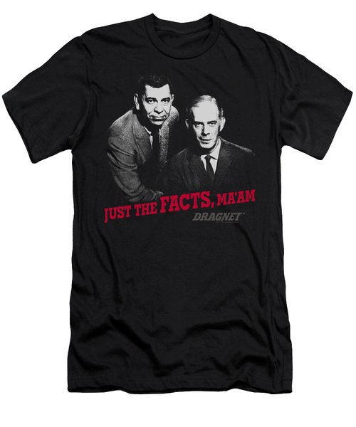 Dragnet - Just The Facts Men's T-Shirt (Athletic Fit)