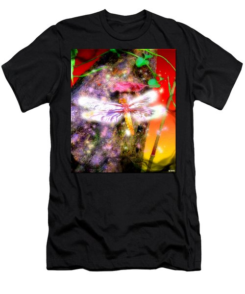 Men's T-Shirt (Slim Fit) featuring the digital art Dragonfly by Daniel Janda