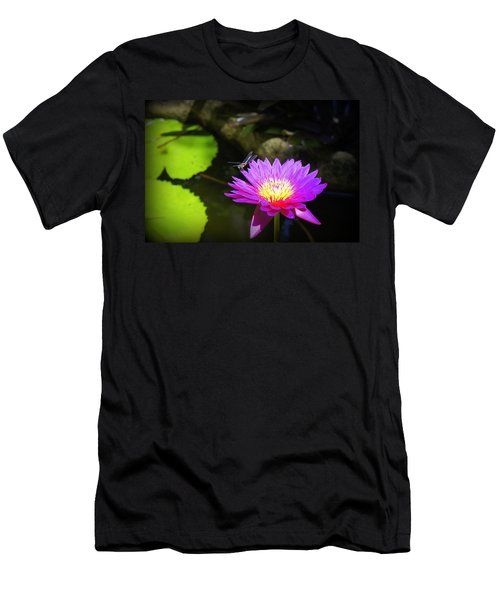 Men's T-Shirt (Slim Fit) featuring the photograph Dragonfly Resting by Laurie Perry