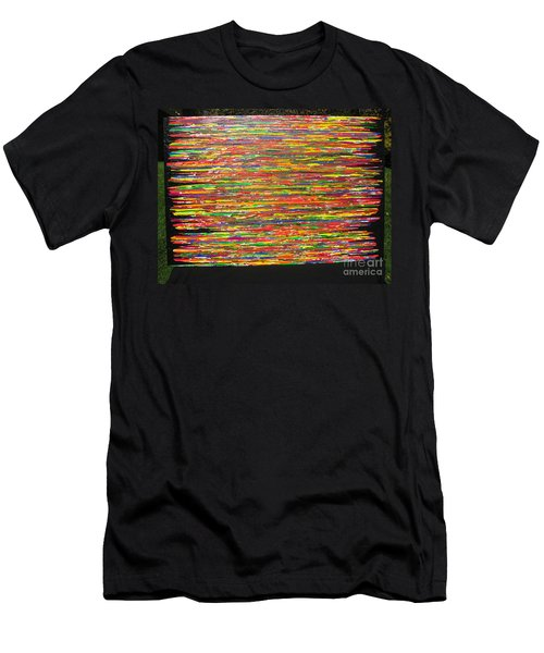 Men's T-Shirt (Slim Fit) featuring the painting Drama by Jacqueline Athmann