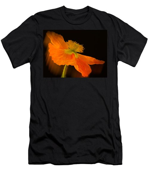 Dramatic Orange Poppy Men's T-Shirt (Slim Fit) by Don Schwartz