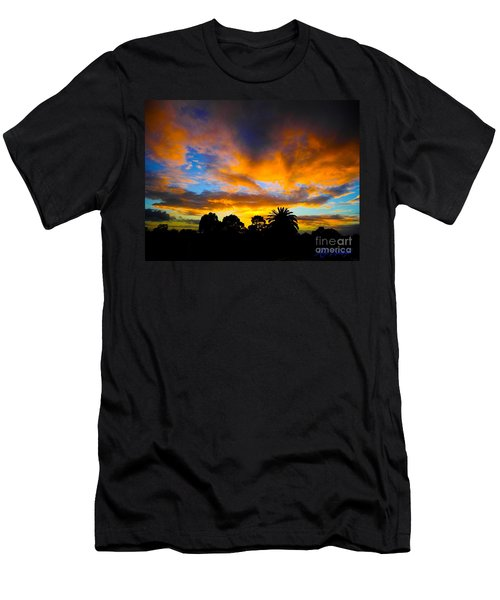 Men's T-Shirt (Slim Fit) featuring the photograph Dramatic Sunset by Mark Blauhoefer