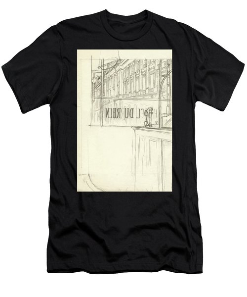 Drawing Of A Bar And Front Window Of Hotel Du Rhin Men's T-Shirt (Athletic Fit)