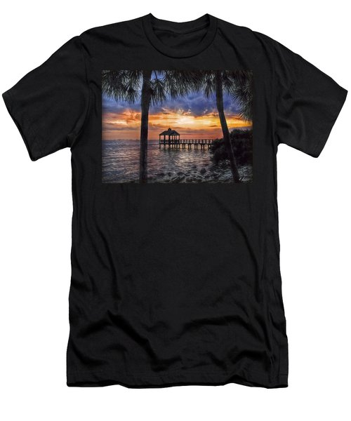 Men's T-Shirt (Slim Fit) featuring the photograph Dream Pier by Hanny Heim