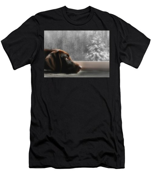Dreamin' Of A White Christmas Men's T-Shirt (Athletic Fit)