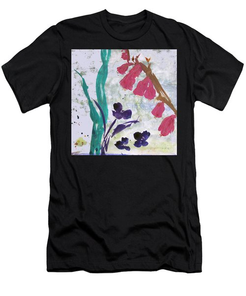 Dreamy Day Flowers Men's T-Shirt (Athletic Fit)