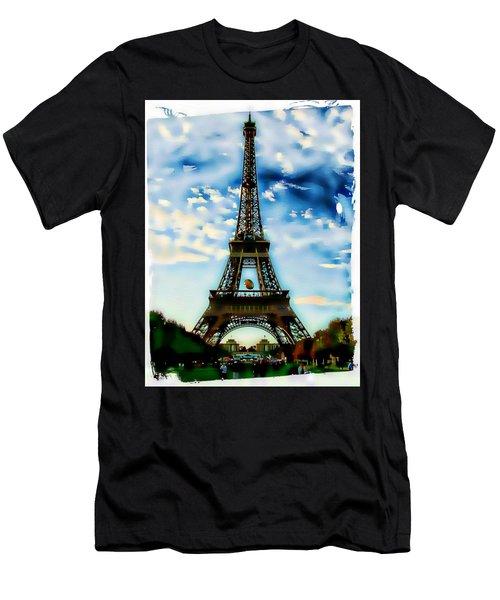 Dreamy Eiffel Tower Men's T-Shirt (Athletic Fit)