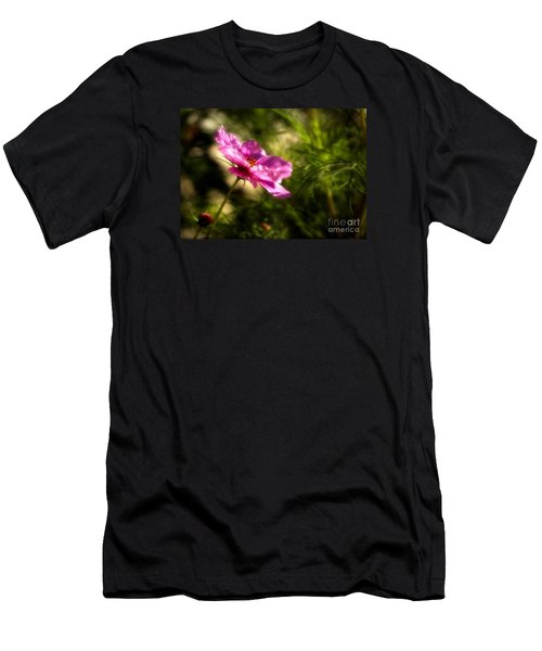 Men's T-Shirt (Slim Fit) featuring the photograph Dreamy Pink Comos by Marjorie Imbeau