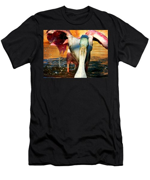 Men's T-Shirt (Slim Fit) featuring the photograph Drenched by Faith Williams