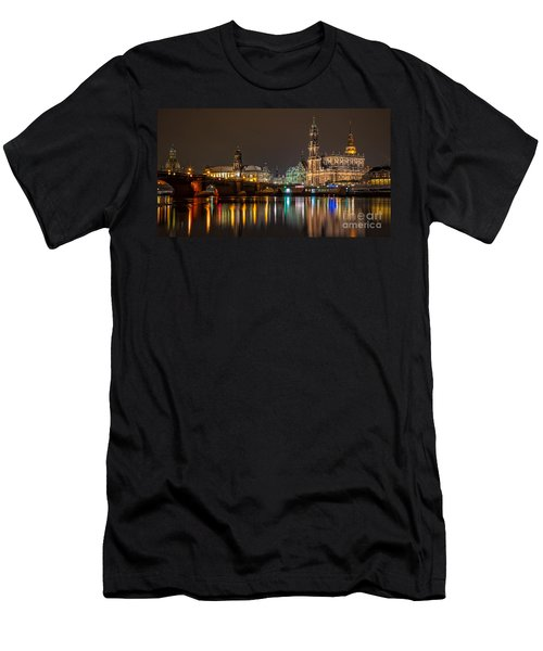 Dresden By Night Men's T-Shirt (Athletic Fit)