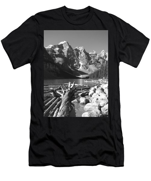 Driftwood - Black And White Men's T-Shirt (Athletic Fit)