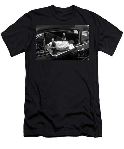 Drive-in Coke And Burgers Men's T-Shirt (Athletic Fit)