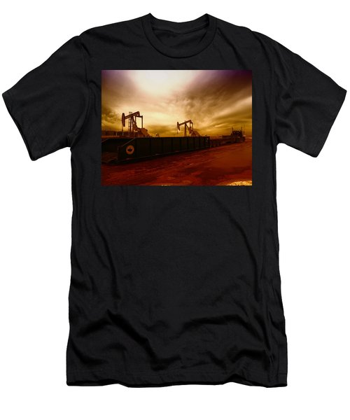 Dropping A Tank Men's T-Shirt (Slim Fit) by Jeff Swan