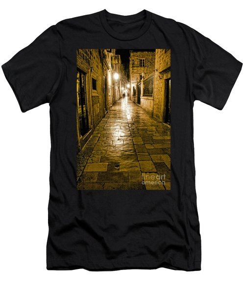 Dubrovnik Streets At Night Men's T-Shirt (Athletic Fit)