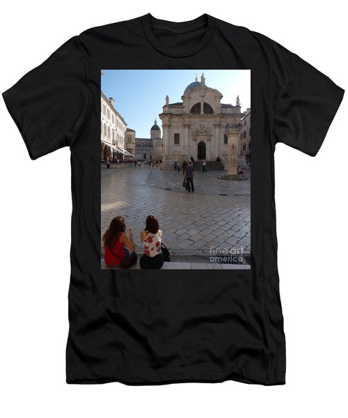 Dubrovnik - Time To Relax Men's T-Shirt (Athletic Fit)