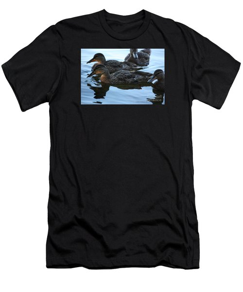 Ducks Reflecting Men's T-Shirt (Athletic Fit)