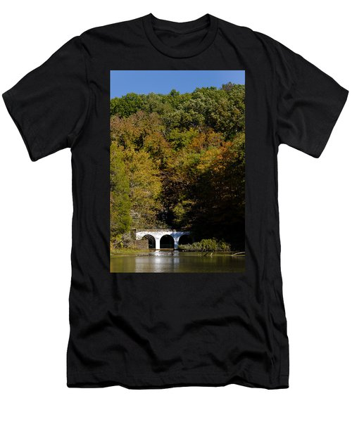 Dunbar Cave And Swan Lake Men's T-Shirt (Athletic Fit)