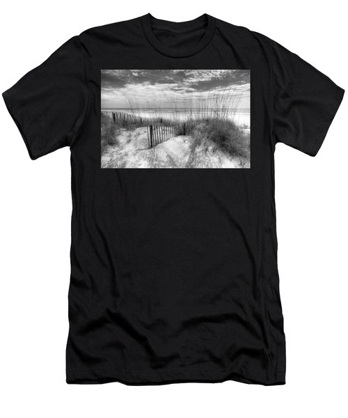 Men's T-Shirt (Athletic Fit) featuring the photograph Dune Fences by Debra and Dave Vanderlaan