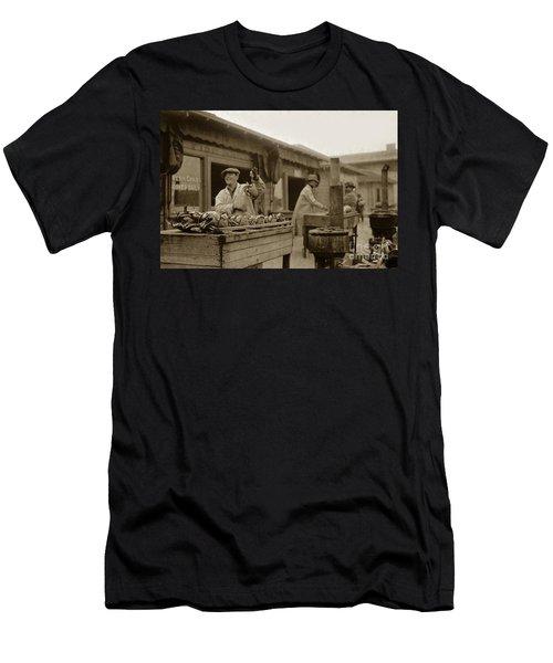 Dungeness Crabs At Fisherman's Wharf At San Francisco California. Circa 1935 Men's T-Shirt (Athletic Fit)