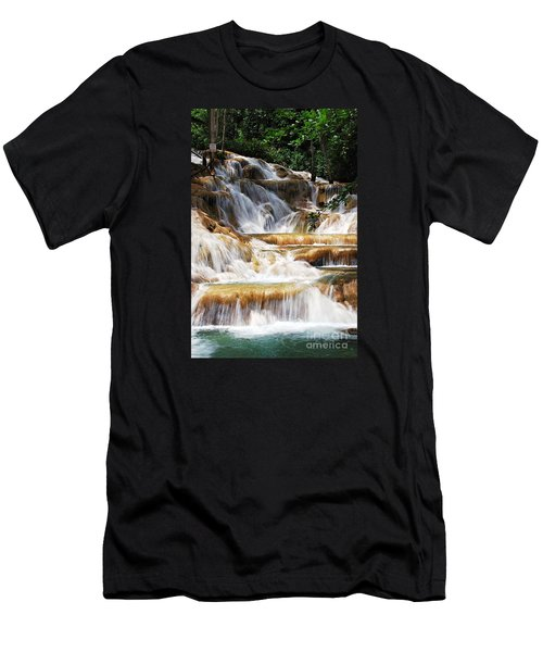 Dunn Falls Men's T-Shirt (Slim Fit) by Hannes Cmarits