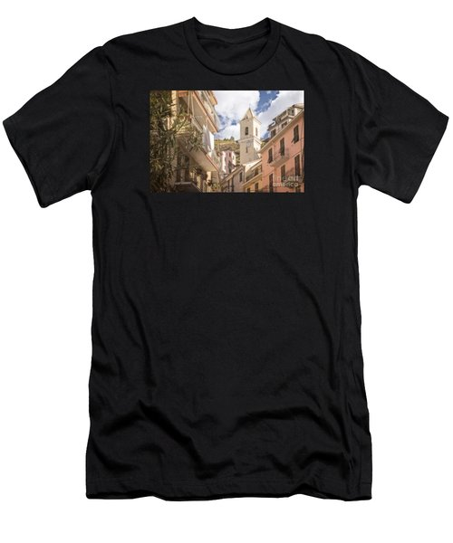 Duomo Bell Tower Of Manarola Men's T-Shirt (Athletic Fit)