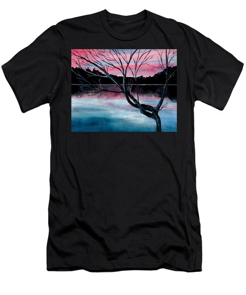 Dusk Lake Arrowhead Maine  Men's T-Shirt (Athletic Fit)