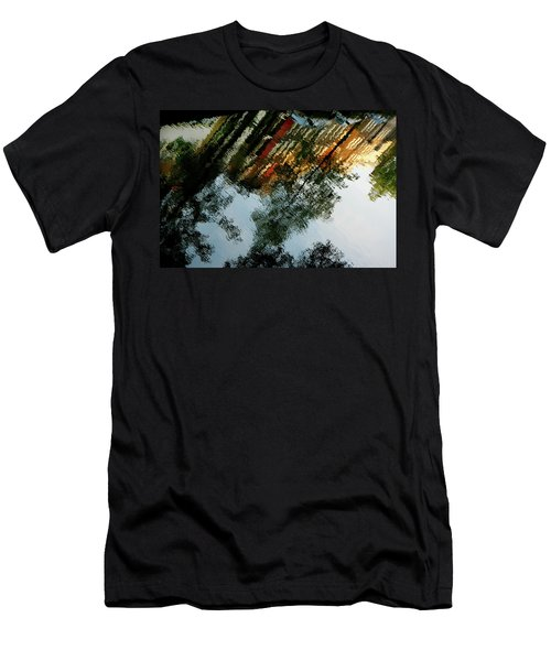 Men's T-Shirt (Athletic Fit) featuring the photograph Dutch Canal Reflection by KG Thienemann
