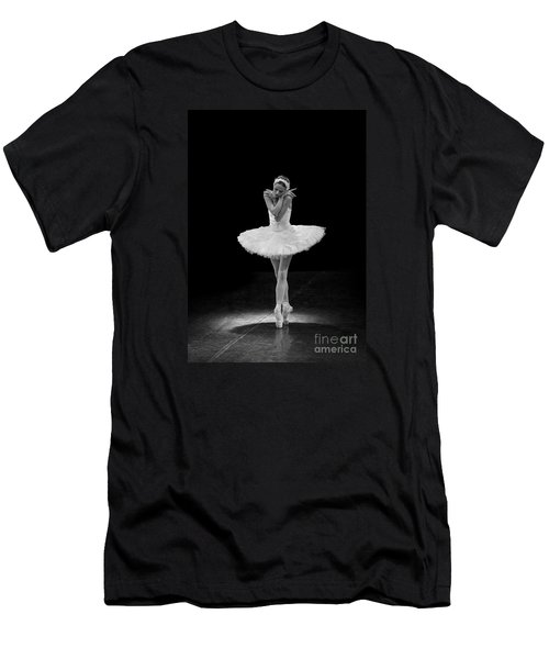 Dying Swan 5. Men's T-Shirt (Slim Fit) by Clare Bambers