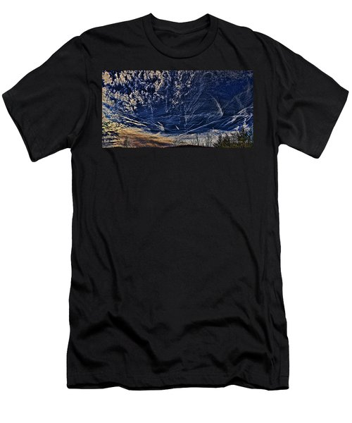 Dynamic Skyscape Men's T-Shirt (Slim Fit) by Tom Culver