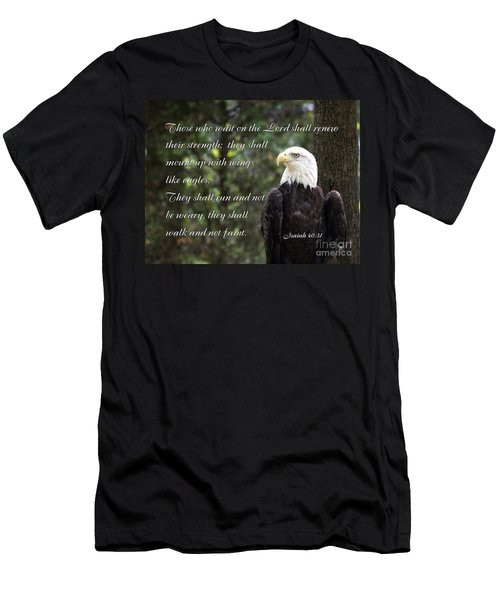 Eagle Scripture Isaiah Men's T-Shirt (Athletic Fit)